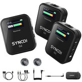 SYNCO G2 A2 A1 Microphone G2A1 G2A2 Wireless Lavalier Mic System for Smartphone DSLR Camera Realtime Monitoring 70M Transmission