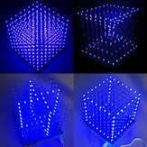 Geekcreit® 8x8x8 LED Cube 3D Açık Kare Mavi LED Flash Elektronik DIY Kit