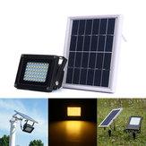 Solar Powered 54 LED Sensor Luz de inundación blanca caliente al aire libre Impermeable IP65 Seguridad de jardín Lámpara