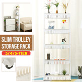 3/4/5-Tier Slim Slide Out Trolley Storage Holder Rack Organiser Kitchen Bathroom