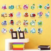 DIY Kinderzimmer Schule Hintergrund Alphabet Wandaufkleber