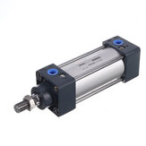 LAIZE SC 40mm Bore Air Cylinder 25-400mm Stroke Pneumatic Cylinder M12x1.25 Thread PT1/4 Connect Double Acting Pneumatic Air Cylinder
