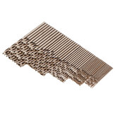 Drillpro 50pcs 1 / 1.5 / 2 / 2.5 / 3mm HSS M35 Cobalto Torção Broca Bit