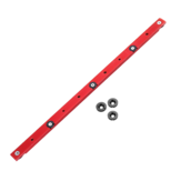 Red 300-880mm Aluminum Alloy Rail Miter Bar Slider Sliding Bar Table Saw Gauge Rod Miter Gauge for T-slot T-track Miter Track Jig Fixture Slot Router Table Woodworking Tool