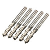 5pcs 6mm x 6mm 3 Flute HSS End Mill Cutter