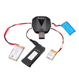 Eachine 4-in-1 1S 3.7V Lipo البطارية شاحن with 12 شحن Cable JST MX2.0 XH2.54 USB for E58 E010