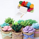 Lana Poke verde Piante in vaso fai da te Kit decorazioni di materia prima Per la casa
