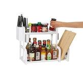 Двухуровневая кухня / Ванная комната Стеллаж для хранения Отдельностоящая полка Экономия места