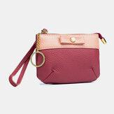 Frauen Echte Leder Kleine Kupplung Geldbeutel Hand Carry Coin Bag