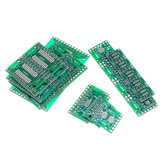 35Pcs 7 Valores Cada 5 PCB Board Kit SMD Turn To DIP SOP MSOP SSOP TSSOP SOT23