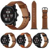 Bakeey 22mm première couche bracelet de remplacement en cuir véritable montre intelligente Bande pour montre de Sport intelligente Amazfit 1/2S