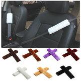 Velor Coche Seat Cinturón Should Pad Protector de la cubierta protectora de invierno Seat Cinturón Cojín Universal