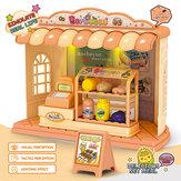 Simulatie in meerdere stijlen Echt leven DIY Handgemaakt Monteren Mooi huis Winkel Vroeg educatief Puzzel Speelgoed voor kinderen Geschenk
