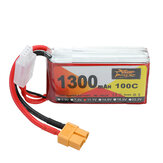 ZOP Power 11.1V 1300mAh 100C 3S Lipo Батарея XT60 Разъем для RC Racing Дрон