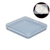 1PC 12x12CM Transparent Portable Mask Case Empty Box Dustproof Mask Storage Box