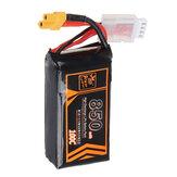 ZOP Power 11.1V 850mAh 100C 3S Lipo Battery XT30 Plug for RC Racing Drone
