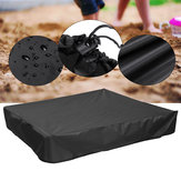 Green Sandbox Sandpit Cover Dustproof Waterproof with Drawstring