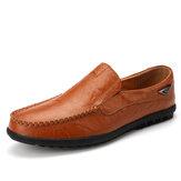 Erkek Deri Nefes Alabilir Kaymaz El Yapımı Günlük İş Ayakkabıları
