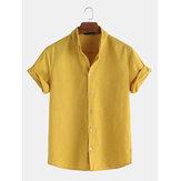 Camisas a rayas de manga corta sueltas ocasionales de verano para hombre