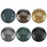 HLURU 6 Inch 8 Notes G Tune Steel Tongue Drum Handpan Instrument with Drum Mallets and Bag
