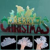 2020クリスマスデコレーションDIYクリスタルエポキシレジンモールドクリスマスサンタレターリストデコレーションシリコンモールドクリスマスレジン用