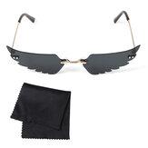 Kadın Çerçevesiz Güneş Gözlüğü Güneş Gözlükler Gözlük Çerçevesiz w / Depolama Kılıf
