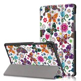 Tri-Fold Pringting Tablet Case Cover for Lenovo Tab M10 Plus Tablet - Butterfly Version