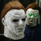 Horror Michael Myers LED Halloween Kills Máscara Cosplay Scary Killer Capacete de látex de rosto inteiro