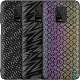 Nillkin for Xiaomi Redmi Note 9S / Redmi Note 9 Pro / Redmi Note 9 Pro Max Case Luxury Luster Twinkle Shield Woven Polyester + PU Leather Shockproof Protective Case Non-original