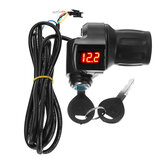 DC 12V-84V Throttle Twist Handlebar LCD Digital Meter W/ Keys For Electric Motorcycle Scooter