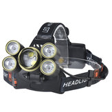 XANES 2506 2700LM Zoomable 4 Switch Modes 3T6 + 4XPE White Light 180 ° Rotation Adjustable Bicycle HeadLamp