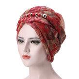 Women Bali Yarn Necklace Scarf Ethnic Tie Turban Cap