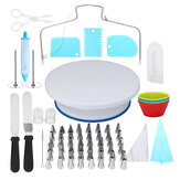106Pcs 28cm Cake Turntable Rotating Decorating Flower Icing Piping Nozzles Baking Mold Set