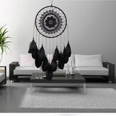 Indian Lace Black Dream Catcher Hanging Decorations Handgemaakte Feather Dream Catcher Bead Ornaments Handgemaakte Windgong Handwerk