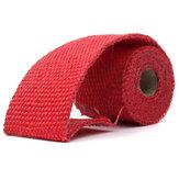 1.52 centímetros de escape escudos envoltório tubo colector Turbo calor cabeçalho colector de isolamento vermelha