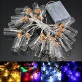 Alimentado por batería 20 LED deseando cadena de hadas botella de navidad de luz boda del jardín decoración del partido