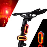 XANES STL03 100LM IPX8 Memory الوضع Bicycle Taillight 6 الوضعs Warning LED USB شحن 360 ° Rotation Bike ضوء
