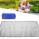 Double-sided Aluminum Film Picnic Mat Foldable Sleeping Pad Waterproof Aluminum Foil For Outdoor Picnic Camping