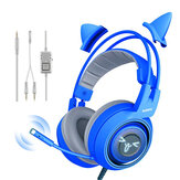 Somic G952S Blue Cute Gaming Headset 3.5mm Plug Auriculares de sonido estéreo con cable con Micrófono para computadora PC Gamer Girls Niños Regalos