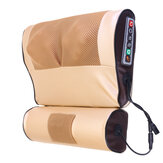 ダブル8D電気首マッサージャー赤外線加熱ヒスイ理学療法PU頸椎マッサージ枕