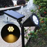 IP65 7LED Boncuklar Solar Güç Spot Işığı Bahçe Işık Outdoor Çim Manzarası Lamba Sıcak Işık