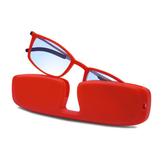 حامل إطار كامل محمول متين ضوء وزن نظارات للقراءة من الراتينج بني مضاد للعرق ومضاد للأزرق ضوء