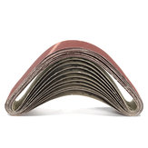 10 Adet 50x686mm Zımpara Kemerleri 60 120 150 240 Kum Alüminyum Oksit Zımpara Kemerleri Aşındırıcı Parçalar