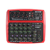 WENYANWEN Mini 4 Channel 16 DSP Effect USB Delay and Repeat Efferts Audio Mixer Console With Bluetooth