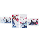 4 Pcs Wall Decorative Painting Modern Abstract Wall Decor Plum Blossom Art Pictures Canvas Prints Home Office Decorations Oil Paintings