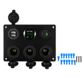 Car Marine Boat 3 Gang Waterproof Circuit LED Rocker Switch Panel Breaker