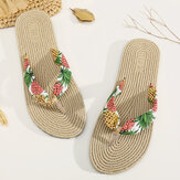 Original              Womens Clip Toe Floral Massage Soles Beach Flats Sandals