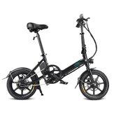 [Diretto UE] FIIDO D3 7.8 Ah 36 V 250 W 14 pollici Bicicletta ciclomotore pieghevole 25 km / h Velocità massima 50 km Gamma chilometraggio Mini bici elettrica