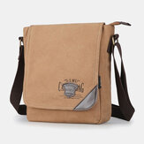 Men Canvas Retro Large Capacity Shoulder Bag Crossbody Bag