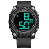 OHSEN 1710デジタル時計ストップウォッチアラーム軍事スポーツスイミングメンズLEDウォッチ